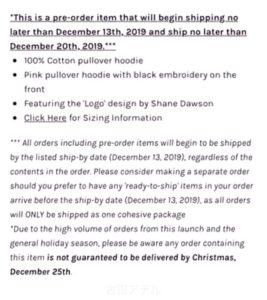 100% Cotton Shane Dawson