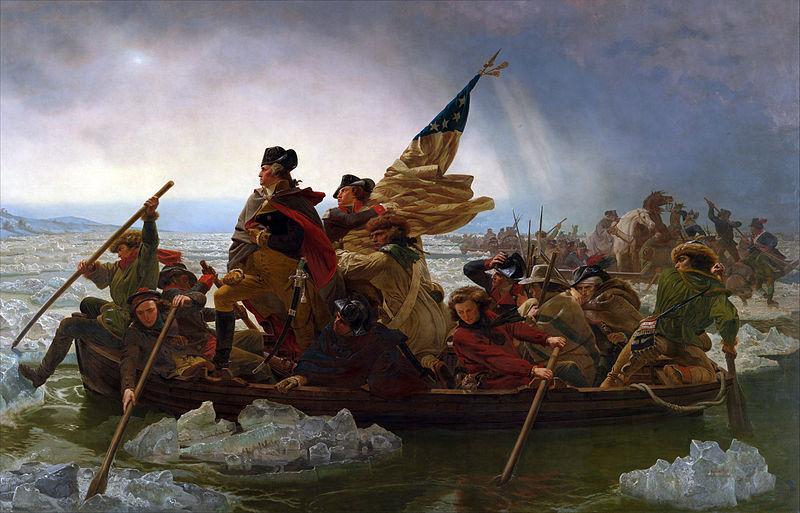『デラウェア川を渡るワシントン』